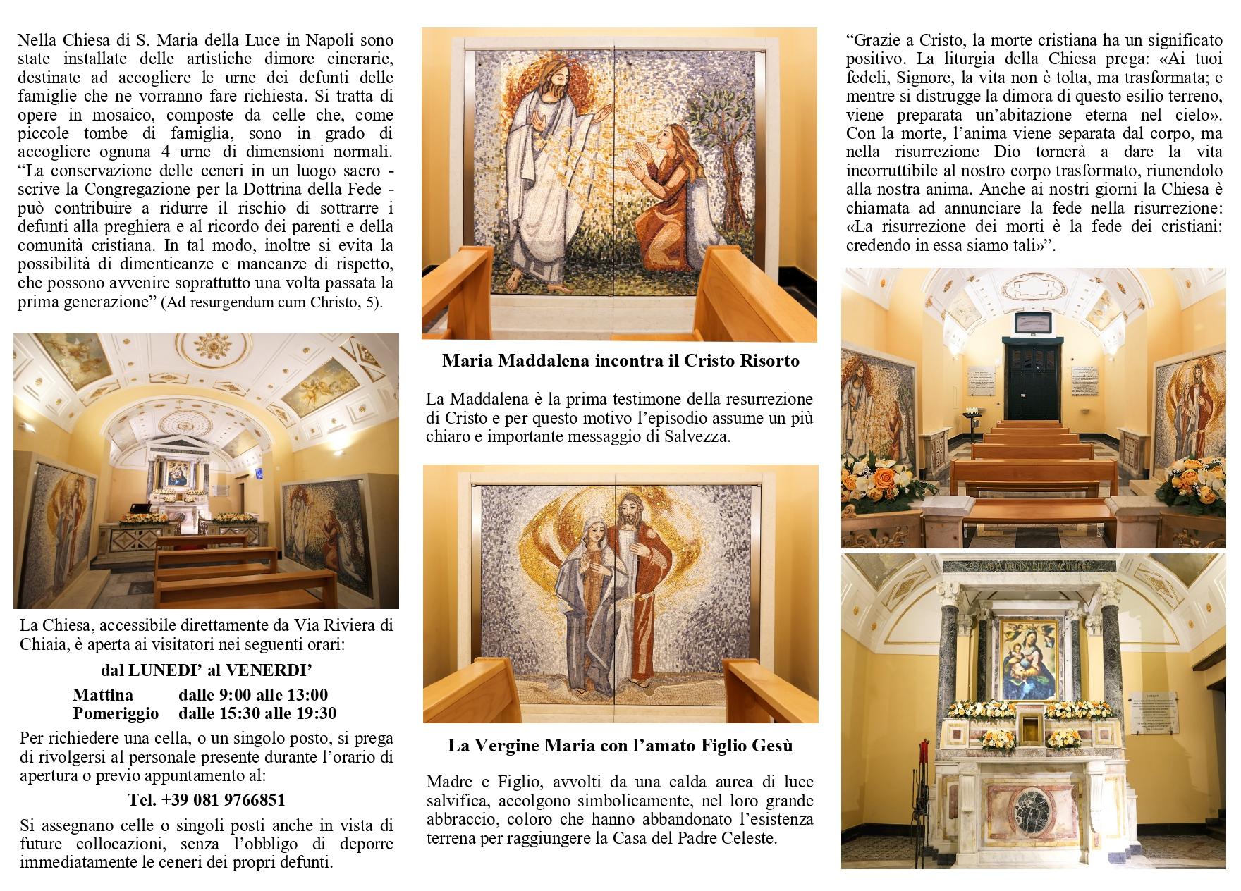 Depliant informativo Luoghi della Memoria Napoli Cinerario